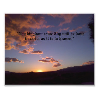 Thy Will Be Done Photo Print