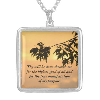 Thy will be done...Sunset Silver Plated Necklace