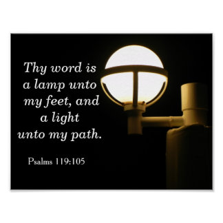 Thy Word a Lamp - Psalms quote Art Print