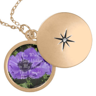 Thy Word I Have Hidden in My Heart - Gold Locket