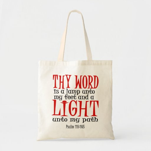 Thy Word is a Lamp Tote Bag