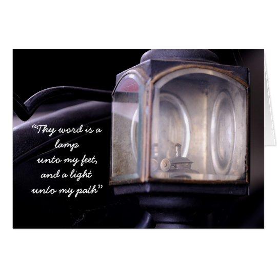 """Thy word is a lamp unto my feet... Card"