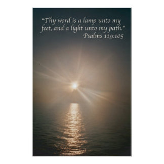 Thy word is a lamp unto my feet  variation 4 print