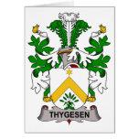 Thygesen Family Crest Greeting Card