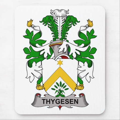 Thygesen Family Crest Mouse Pad