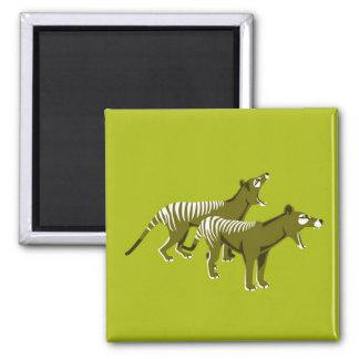 Thylacine 2 Inch Square Magnet