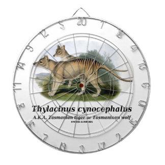 Thylacinus cynocephalus (Tasmanian tiger or wolf) Dart Board