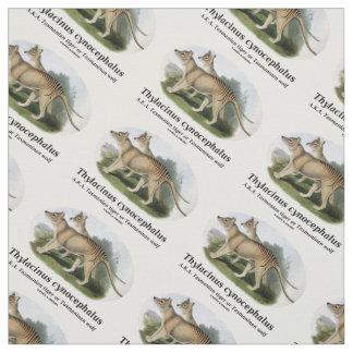 Thylacinus cynocephalus (Tasmanian tiger or wolf) Fabric