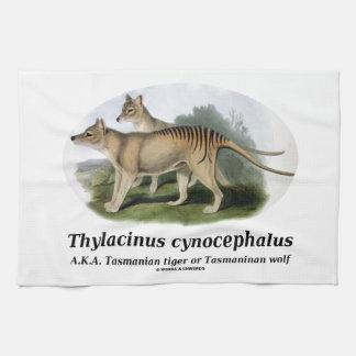 Thylacinus cynocephalus (Tasmanian tiger or wolf) Hand Towels
