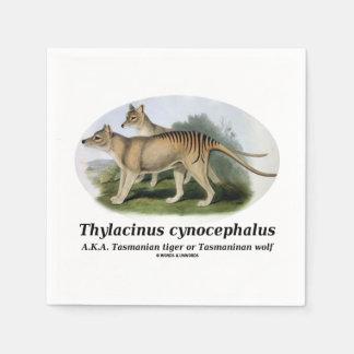 Thylacinus cynocephalus (Tasmanian tiger or wolf) Napkin