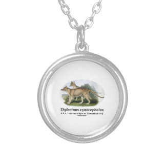 Thylacinus cynocephalus (Tasmanian tiger or wolf) Personalized Necklace