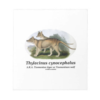 Thylacinus cynocephalus (Tasmanian tiger or wolf) Note Pad