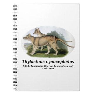 Thylacinus cynocephalus (Tasmanian tiger or wolf) Notebook