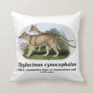 Thylacinus cynocephalus (Tasmanian tiger or wolf) Pillow