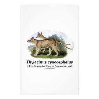 Thylacinus cynocephalus (Tasmanian tiger or wolf) Stationery