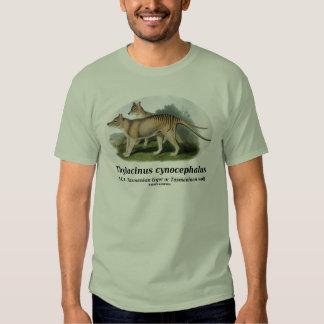 Thylacinus cynocephalus (Tasmanian tiger or wolf) T-shirt