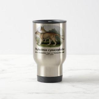Thylacinus cynocephalus (Tasmanian tiger or wolf) Travel Mug