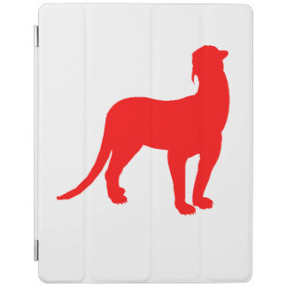 Thylacosmilus Silhouette (Red) iPad Cover