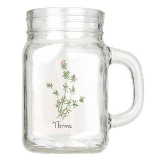 Thyme Herb Sprig Mason Jar 12oz.
