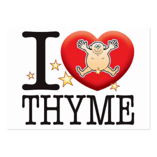 Thyme Love Man Large Business Card