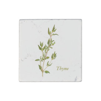 Thyme - Marble Stone Magnet