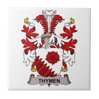 Thymen Family Crest Ceramic Tiles