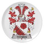 Thymen Family Crest Dinner Plate