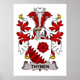 Thymen Family Crest Print