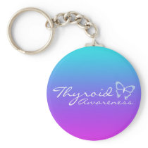 Thyroid Awareness Keychain