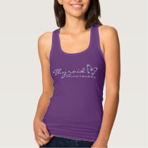 Thyroid Awareness Purple Racerback Tank Top