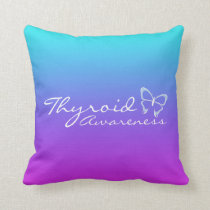 Thyroid Awareness Throw Pillow