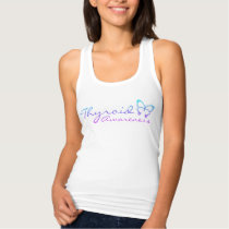 Thyroid Awareness White Racerback Tank Top