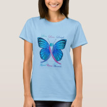 Thyroid Butterfly Be Aware T-Shirt