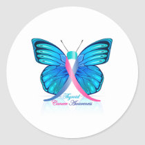 Thyroid Butterfly Classic Round Sticker