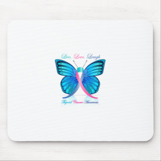 Thyroid Butterfly- Live Love Laugh Mouse Pad