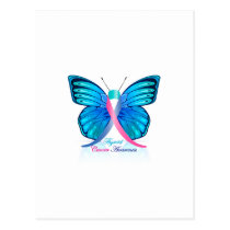 Thyroid Butterfly Postcard