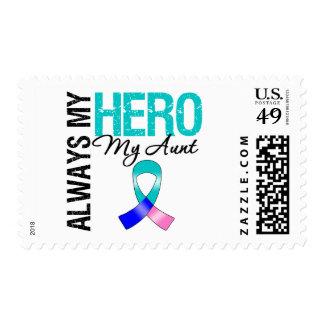 Thyroid Cancer ALWAYS MY HERO MY AUNT Stamp
