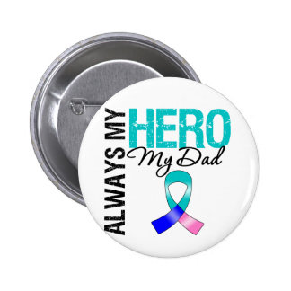 Thyroid Cancer ALWAYS MY HERO MY DAD Pinback Button