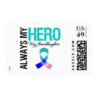 Thyroid Cancer ALWAYS MY HERO MY GRANDDAUGHTER Stamps