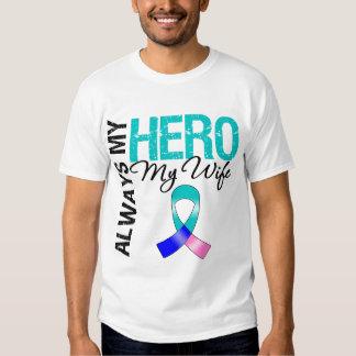 Thyroid Cancer ALWAYS MY HERO MY WIFE Shirt