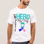 Thyroid Cancer ALWAYS MY HERO MY WIFE T-Shirt