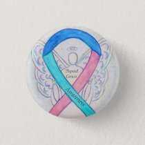 Thyroid Cancer Angel Awareness Ribbon Pins