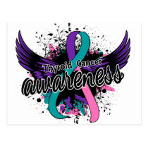 Thyroid Cancer Awareness 16 Postcard