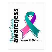 Thyroid Cancer Awareness 5 Postcard