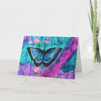 Thyroid Cancer Awareness Butterfly Note Cards