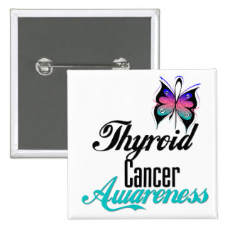 Thyroid Cancer Awareness Butterfly Pins