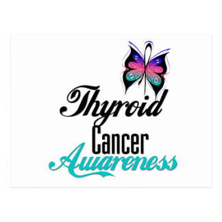 Thyroid Cancer Awareness Butterfly Postcard