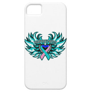 Thyroid Cancer Awareness Heart Wings iPhone SE/5/5s Case
