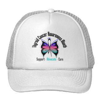 Thyroid Cancer Awareness Month Butterfly v3 Trucker Hat