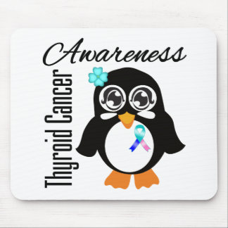 Thyroid Cancer Awareness Penguin Mouse Pad